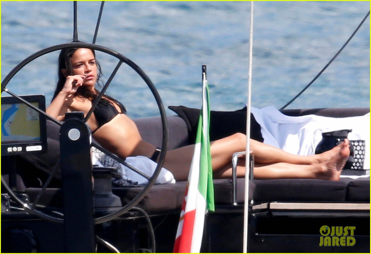 michelle rodriguez soaks up sun in bikini 143144805