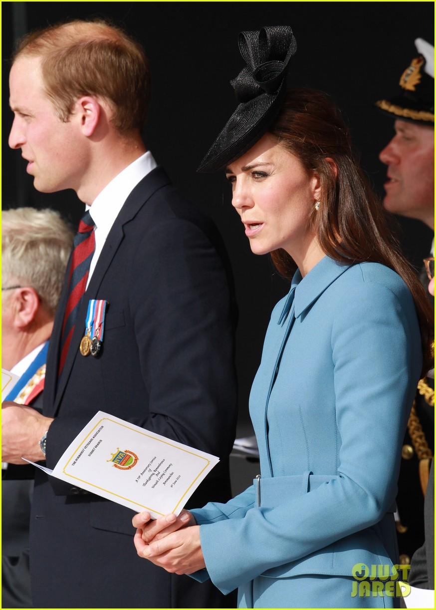 kate middleton prince william pay respects at d day 70th anniversary 013129871