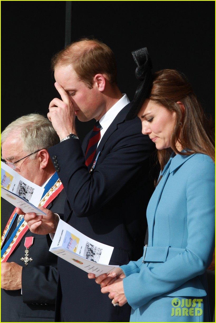 kate middleton prince william pay respects at d day 70th anniversary 123129882