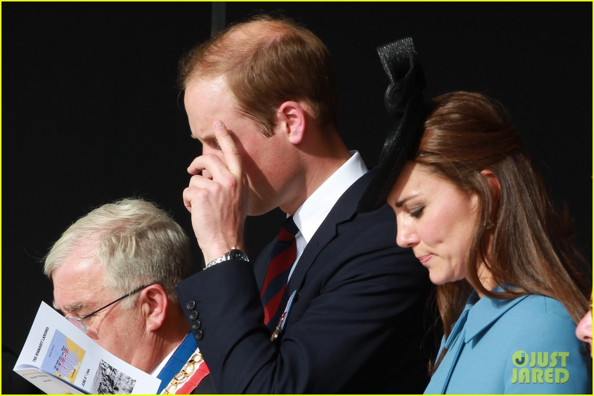 kate middleton prince william pay respects at d day 70th anniversary 133129883