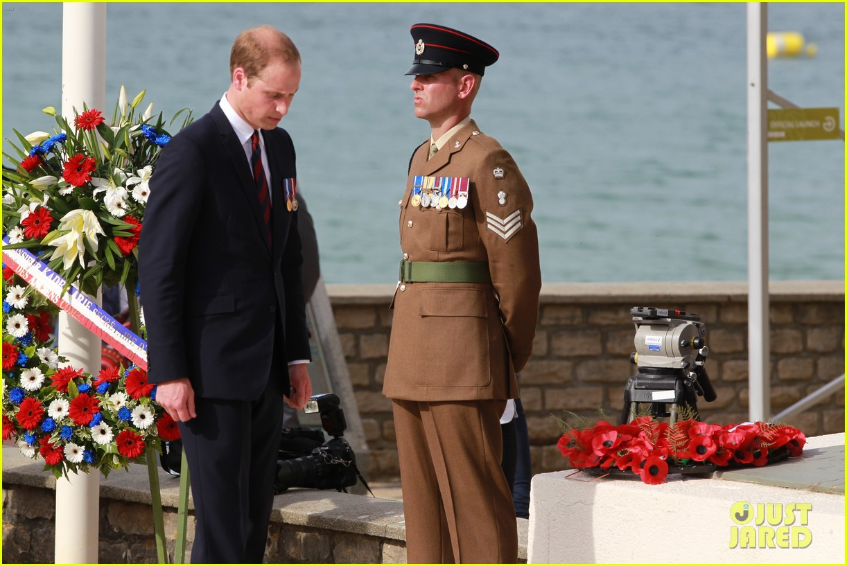 kate middleton prince william pay respects at d day 70th anniversary 263129896