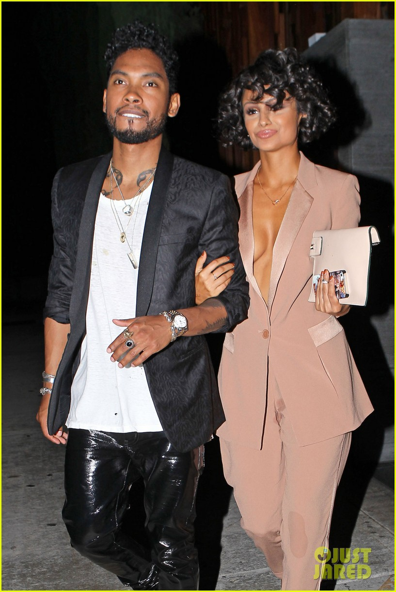 miguel girlfriend nazanin mandi stakes claim to his crotch 023147036