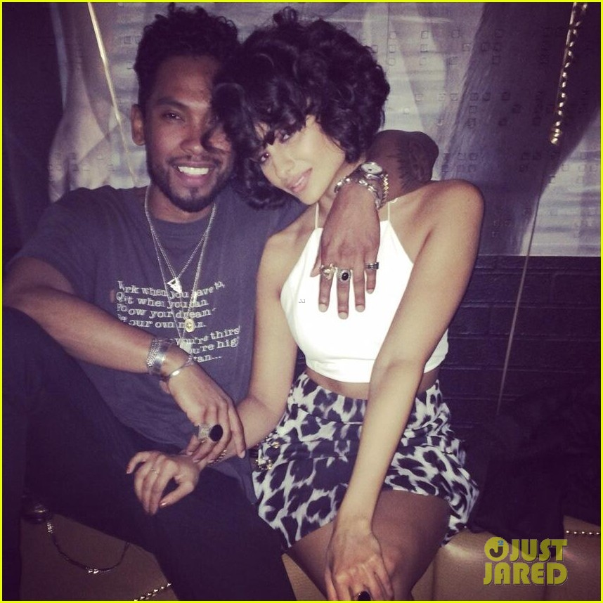 miguel girlfriend nazanin mandi stakes claim to his crotch 033147037