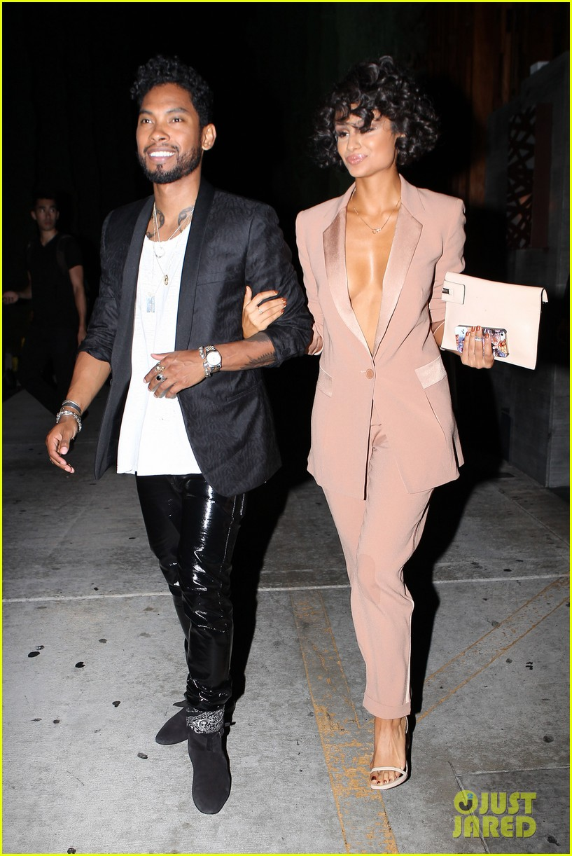 miguel girlfriend nazanin mandi stakes claim to his crotch 07