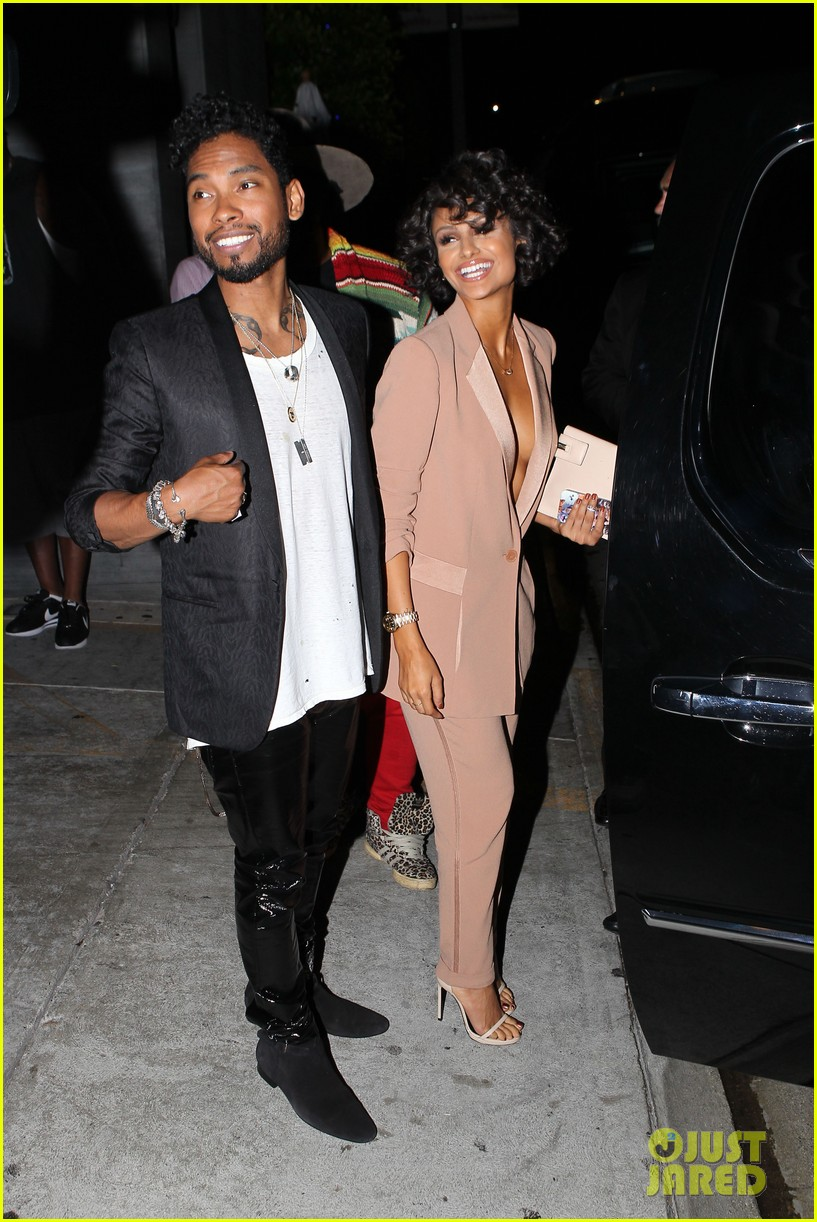 miguel girlfriend nazanin mandi stakes claim to his crotch 173147051