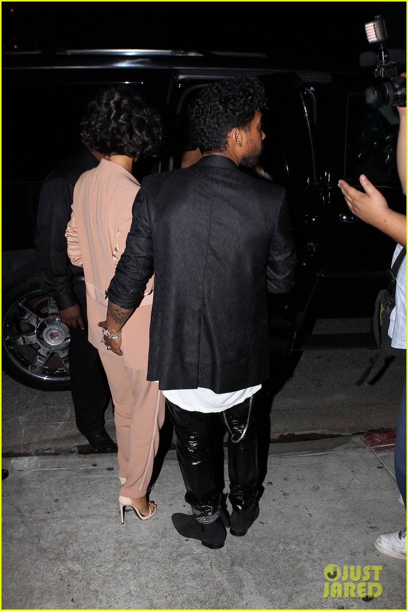 miguel girlfriend nazanin mandi stakes claim to his crotch 183147052