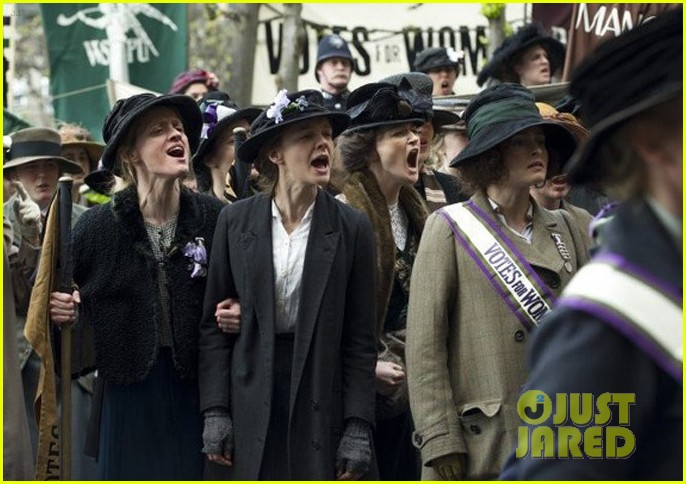carey mulligan helena bonham carter protest for their right in first suffragette image 013128924