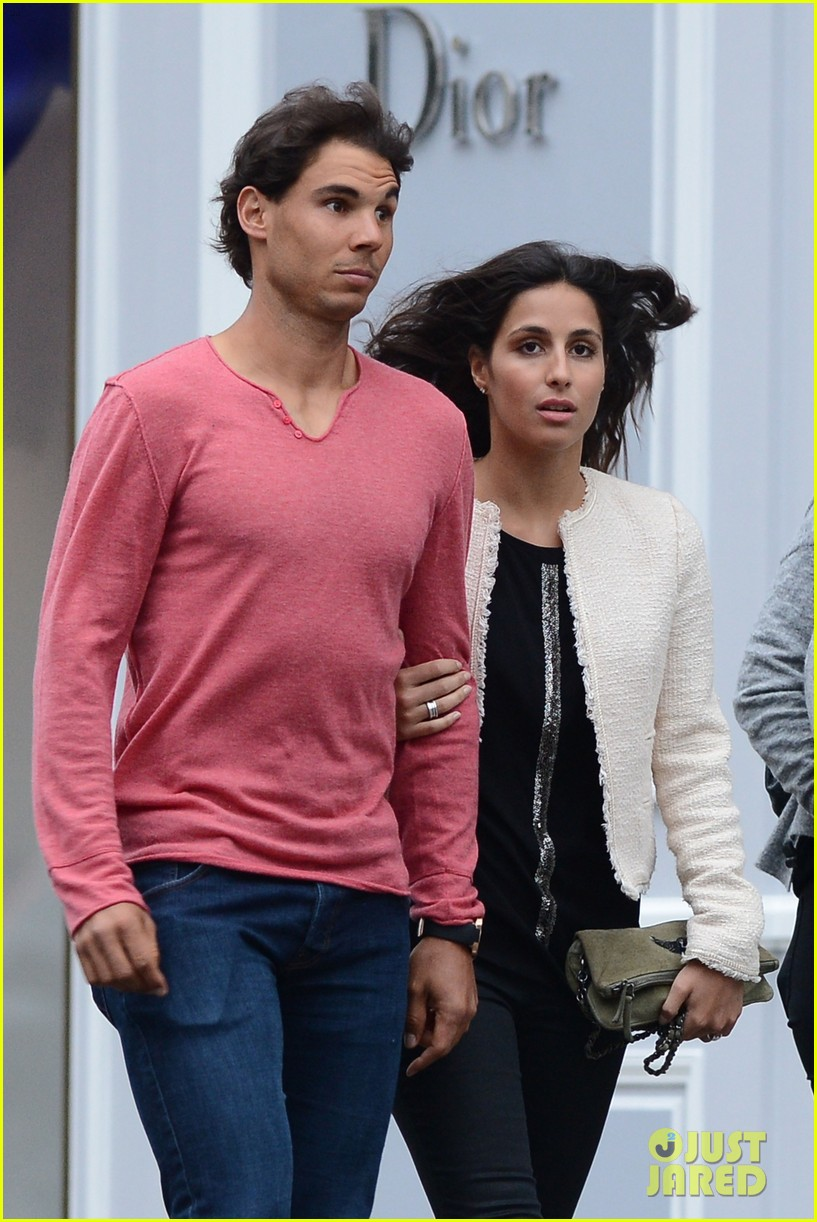 rafael nadal goes shirtless at french open strolls wih xisca perello 02