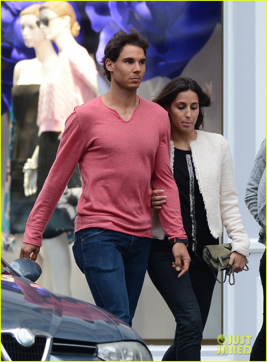 rafael nadal goes shirtless at french open strolls wih xisca perello 073126521