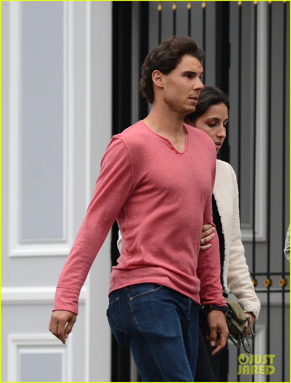 rafael nadal goes shirtless at french open strolls wih xisca perello 243126538