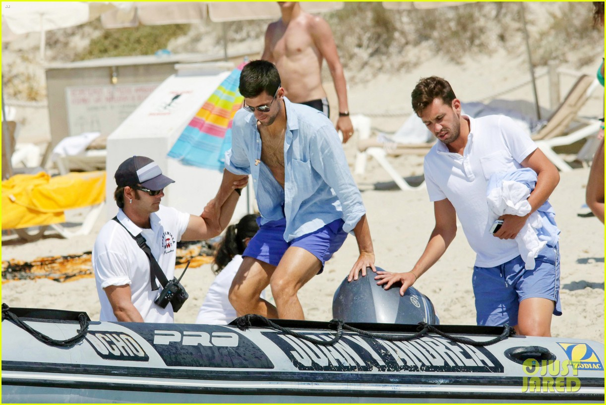 novak djokovic continues his bachelor party beach vacation 053135150