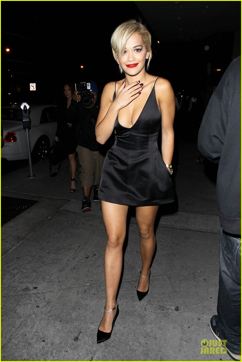rita ora shows cleavage after calvin harris split 093130368
