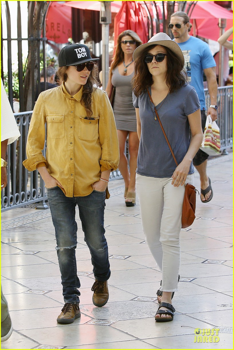 ellen page sunday shopping with close gal pal 033131963