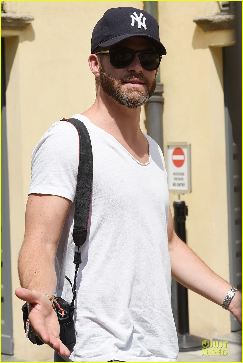 chris pine capture moments in italy 183142816