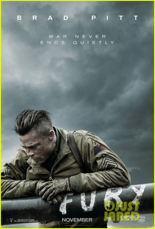 brad pitt looks war torn in new fury poster 013142571