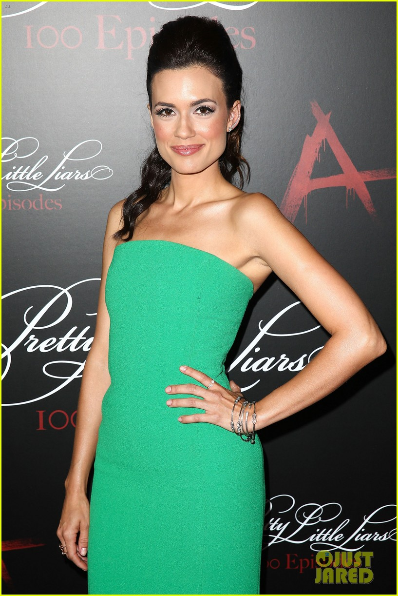 lucy hale ashley benson pretty little liars 100th episode party 103125750