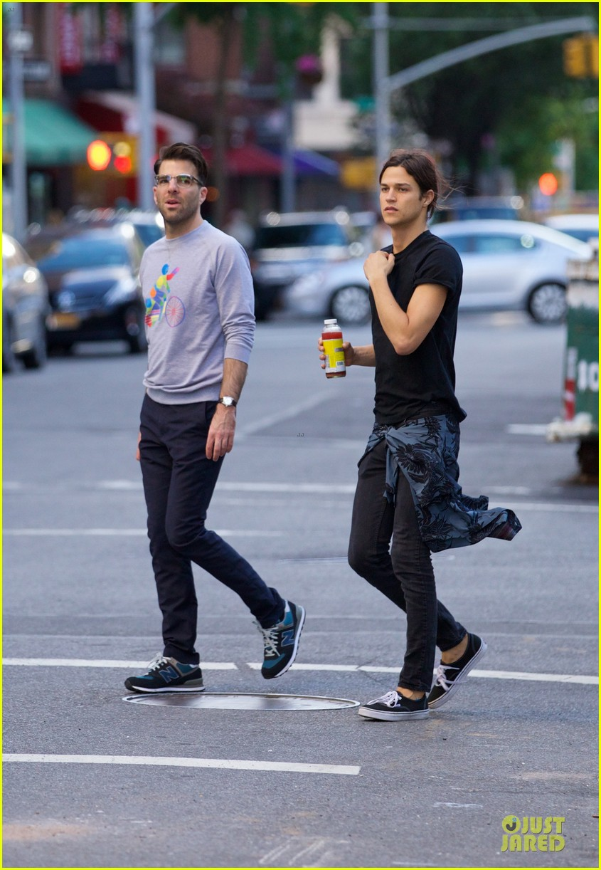 zachary quinto miles mcmillan going strong in nyc 013130183