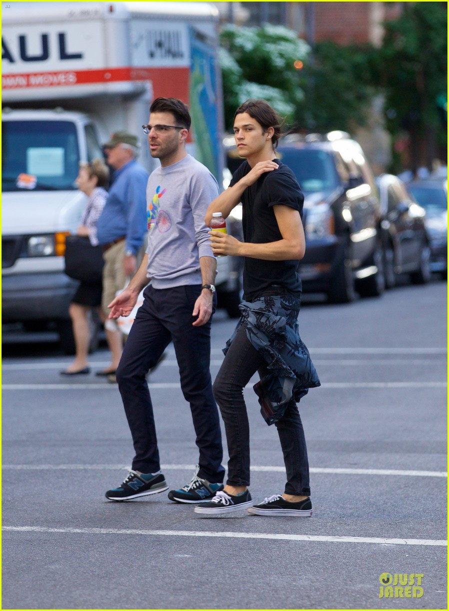 zachary quinto miles mcmillan going strong in nyc 073130189