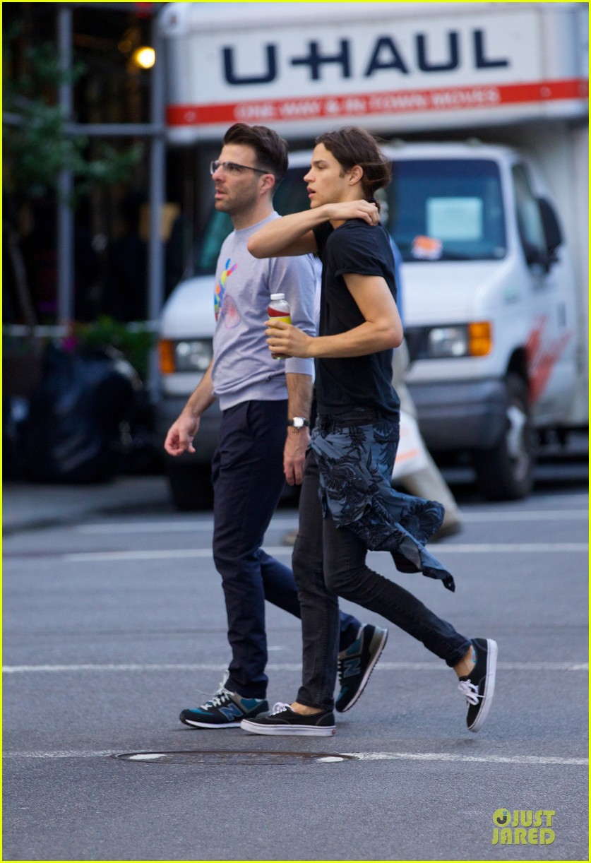 zachary quinto miles mcmillan going strong in nyc 083130190