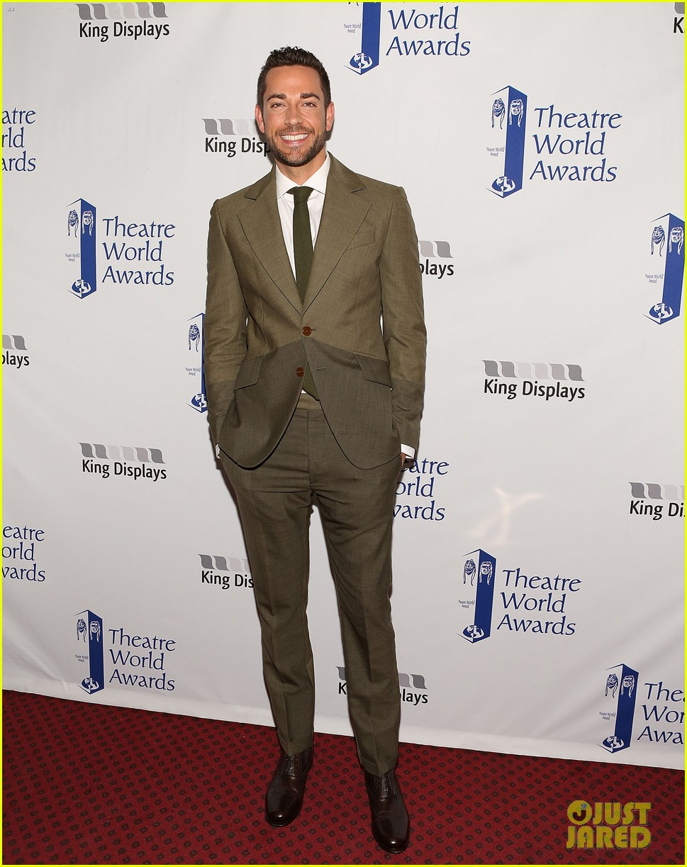 zachary quinto steps out to present at theatre world awards 013127235