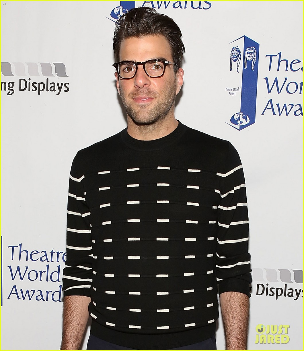 zachary quinto steps out to present at theatre world awards 02