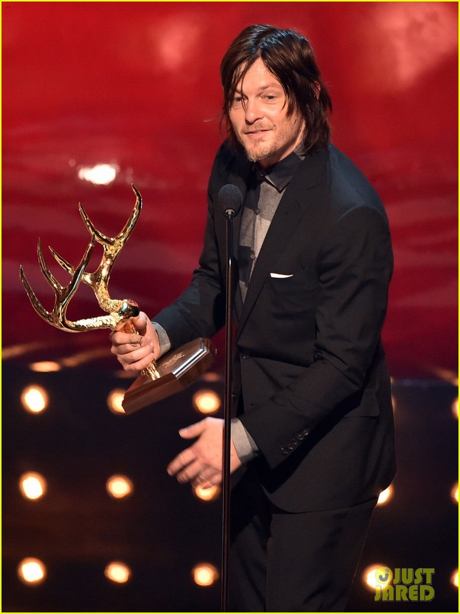 norman reedus lauren cohan guys choice awards 2014 123130832