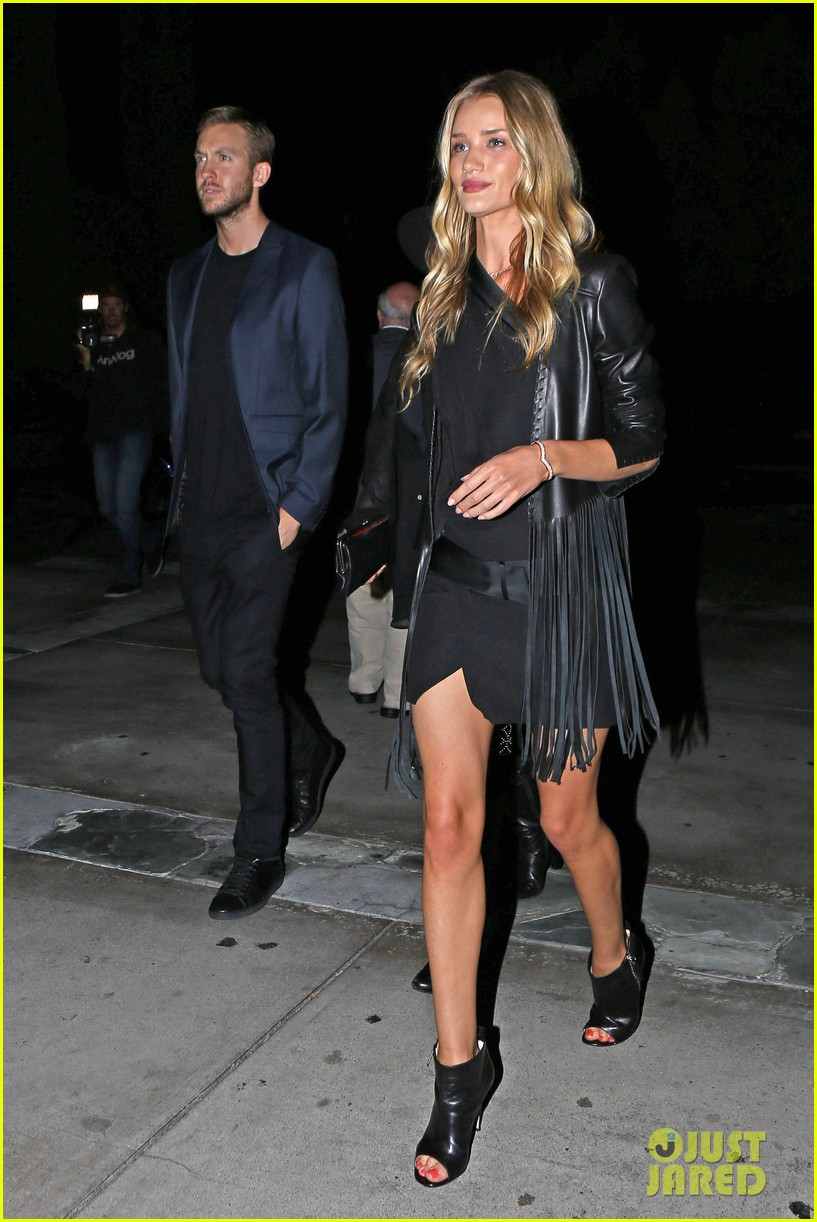 rosie huntington whiteley calvin harris have dinner together 063129846