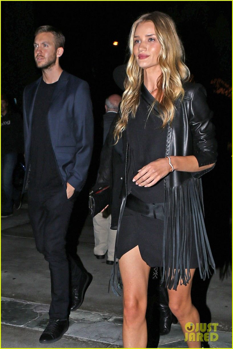 rosie huntington whiteley calvin harris have dinner together 073129847