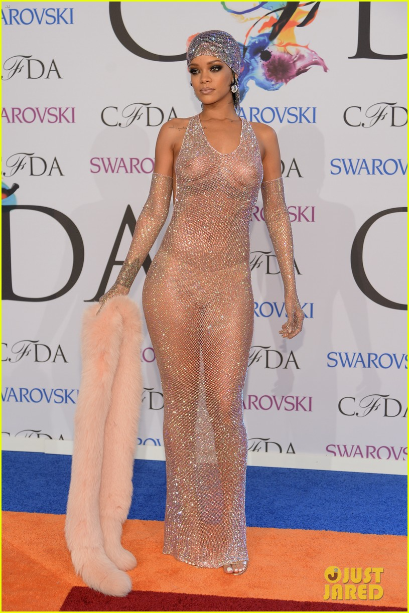rihanna stylist talks her so naked dress at cfda awards 14
