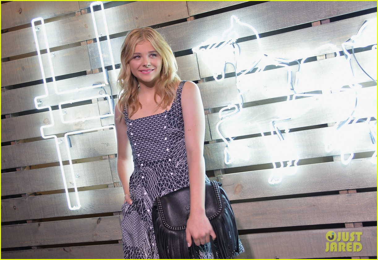 chloe moretz summer party nyc coach 2014 08