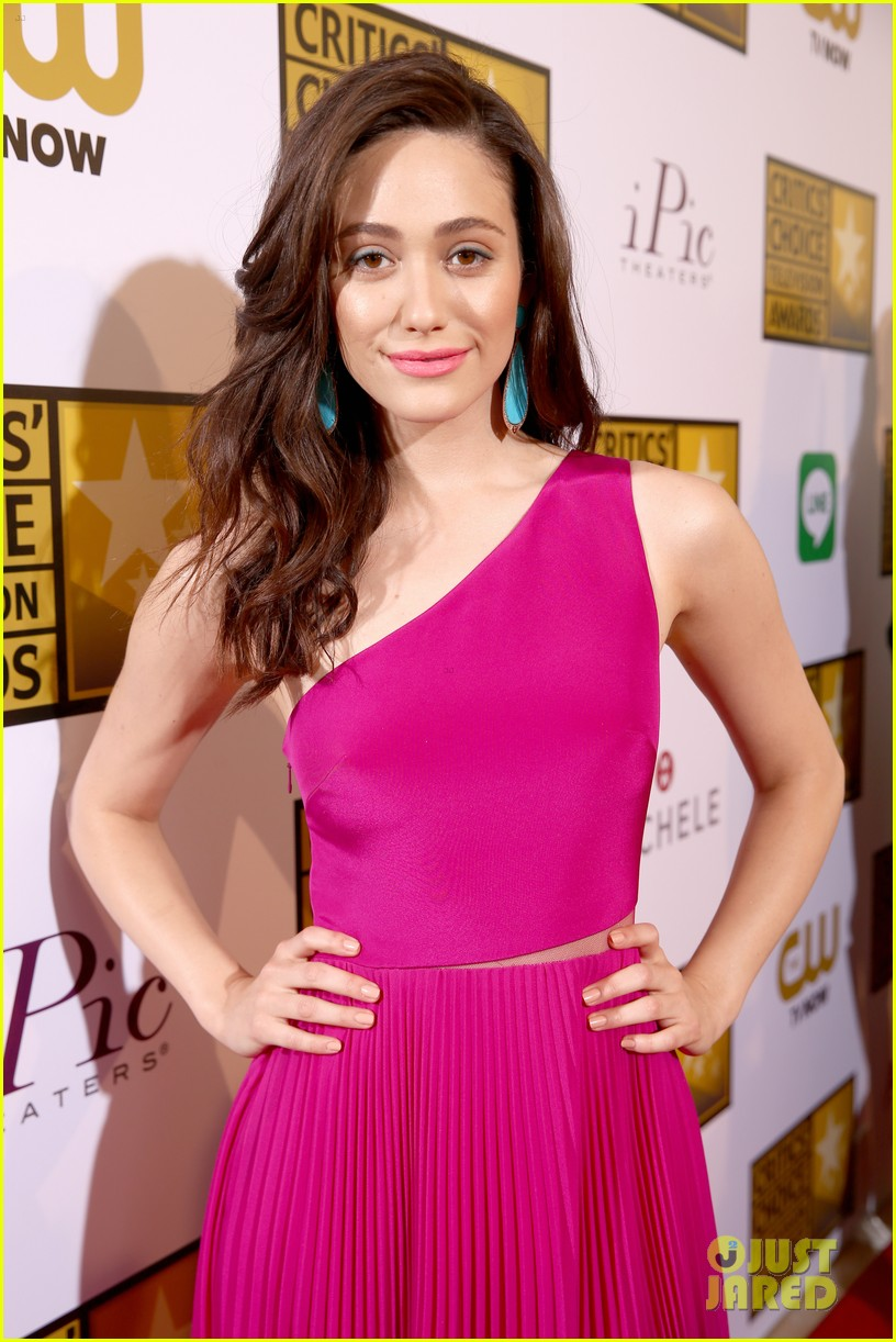 emmy rossum rosy dress gym day before 04