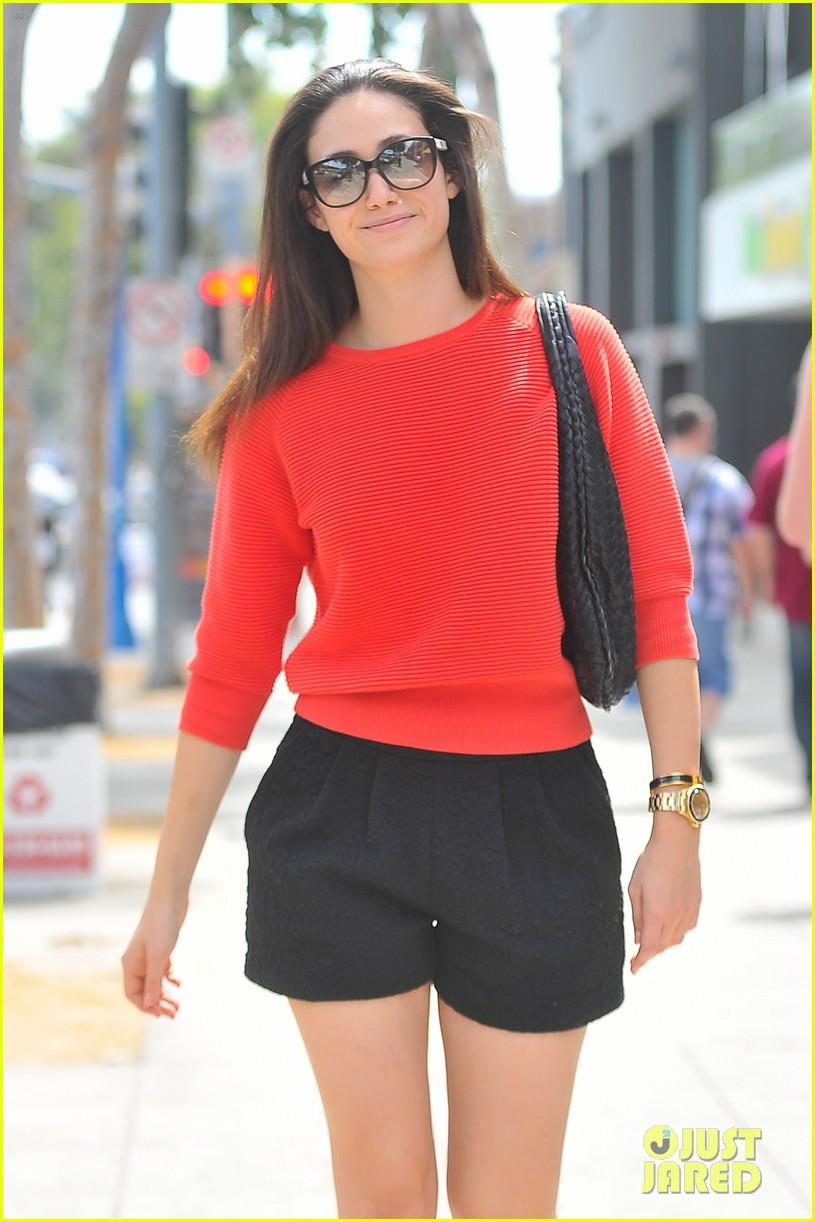 emmy rossum red sweater sweetie 02