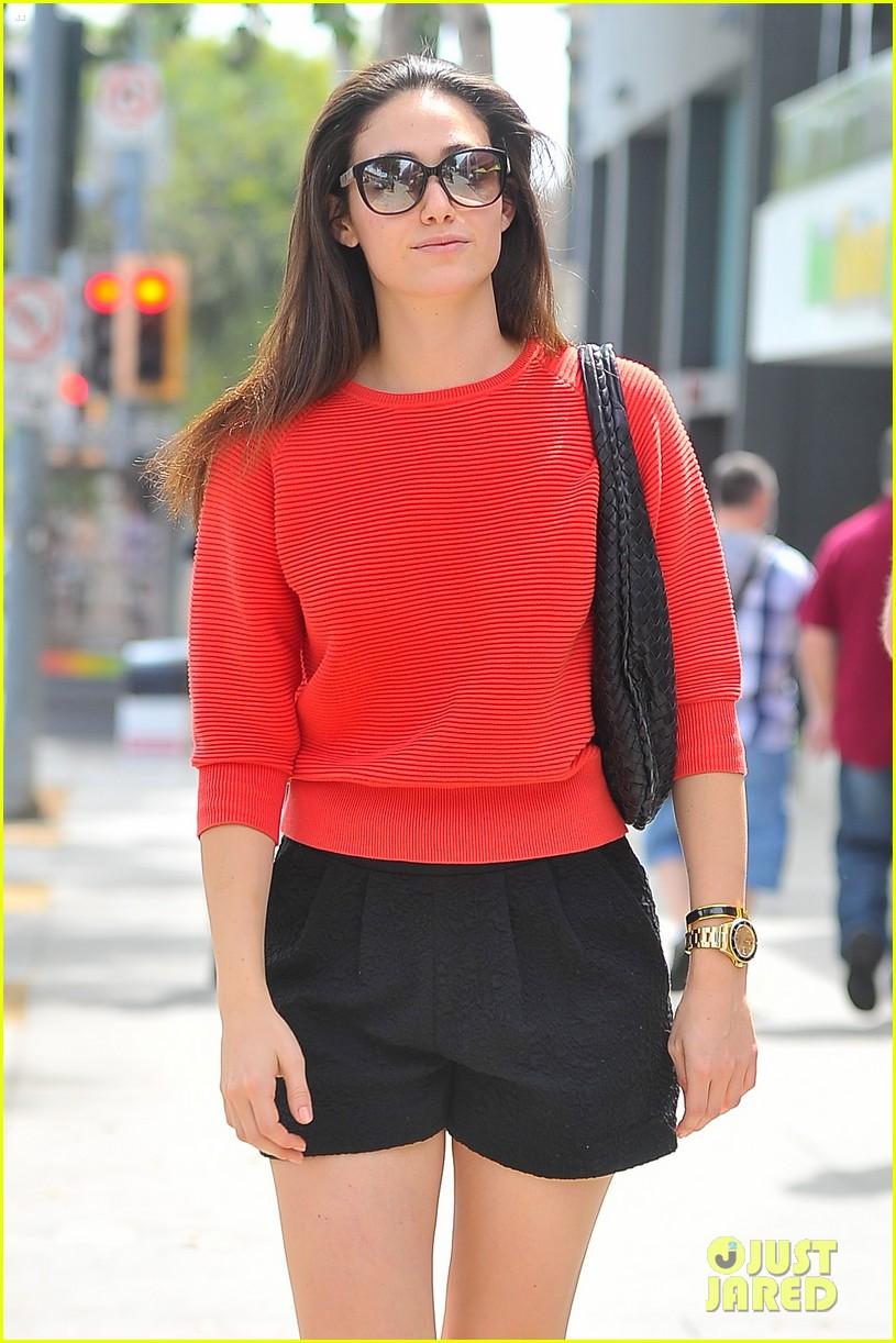 emmy rossum red sweater sweetie 143141509