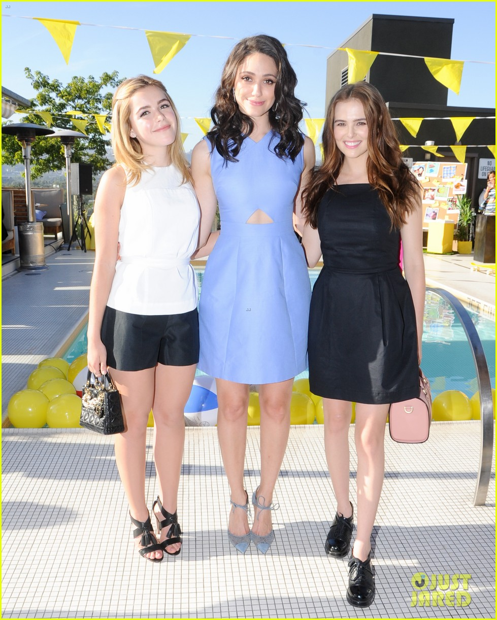 emmy rossum zoey deutch kate spade saturday 03