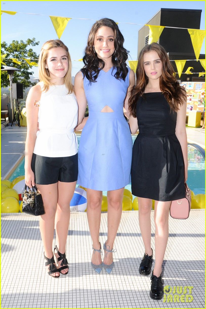 emmy rossum zoey deutch kate spade saturday 233141976