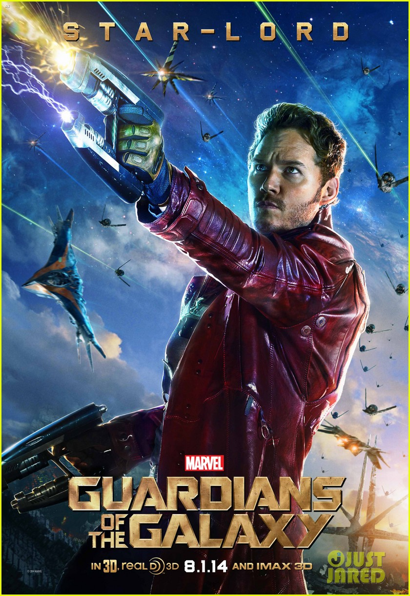 chris pratt zoe saldana guardians of the galaxy character posters 01