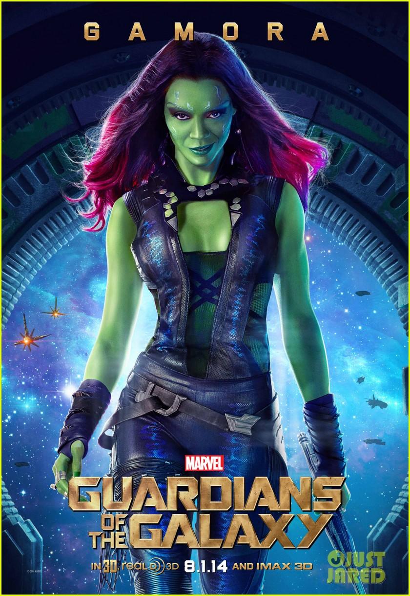 chris pratt zoe saldana guardians of the galaxy character posters 023137342