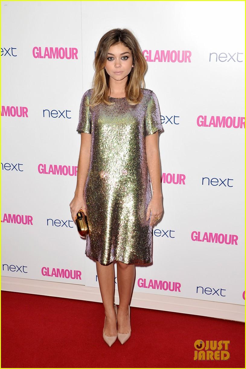 sarah hyland lily james glamour awards 033127539