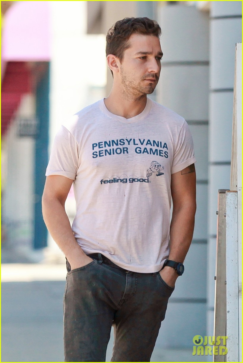 shia labeouf is feeling good en route to the gym 05