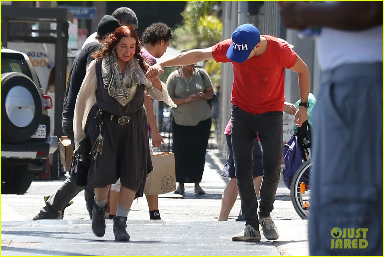 shia labeouf holds hands with his mom while out to lunch 033126059