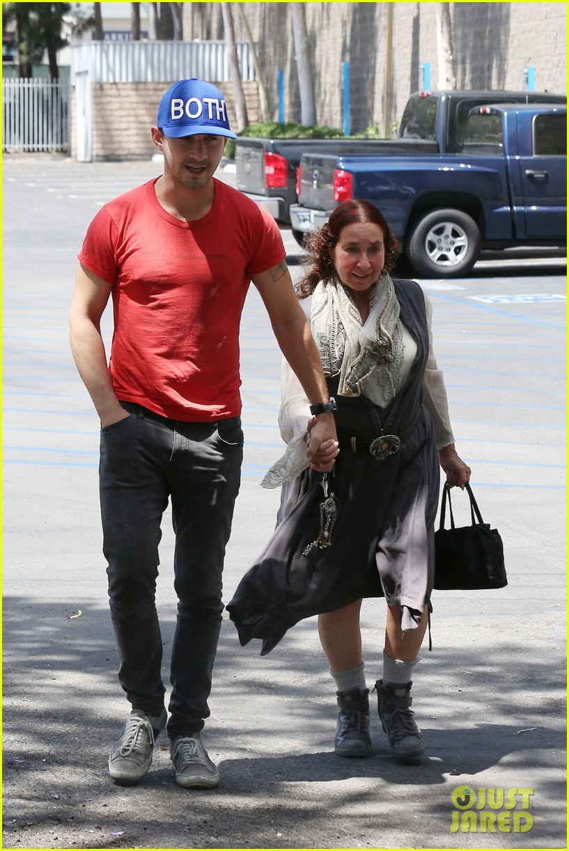 shia labeouf holds hands with his mom while out to lunch 053126061