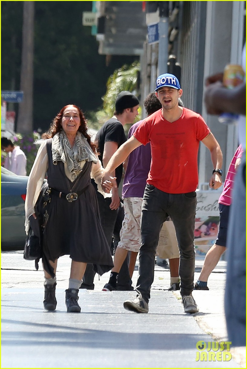 shia labeouf holds hands with his mom while out to lunch 063126062