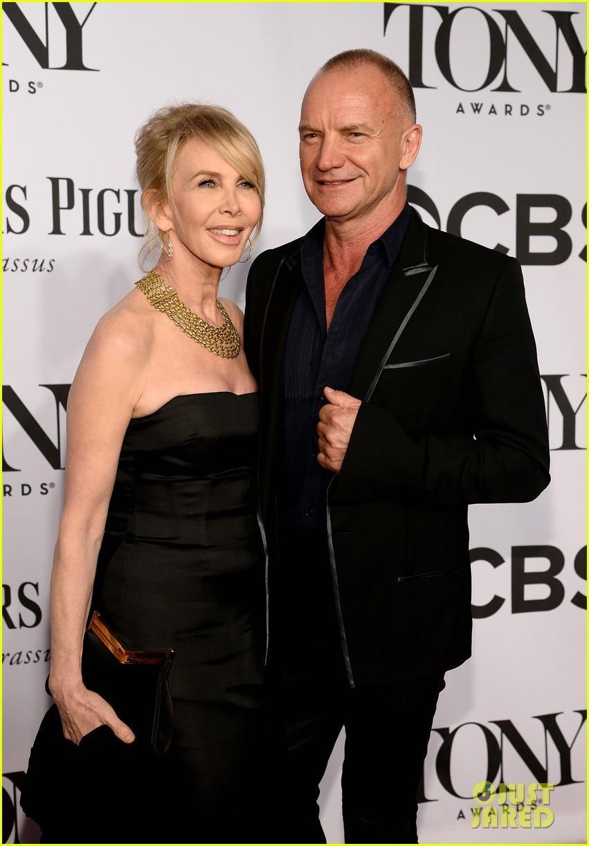sting brings wife trudie styler to tony awards 2014 023131251