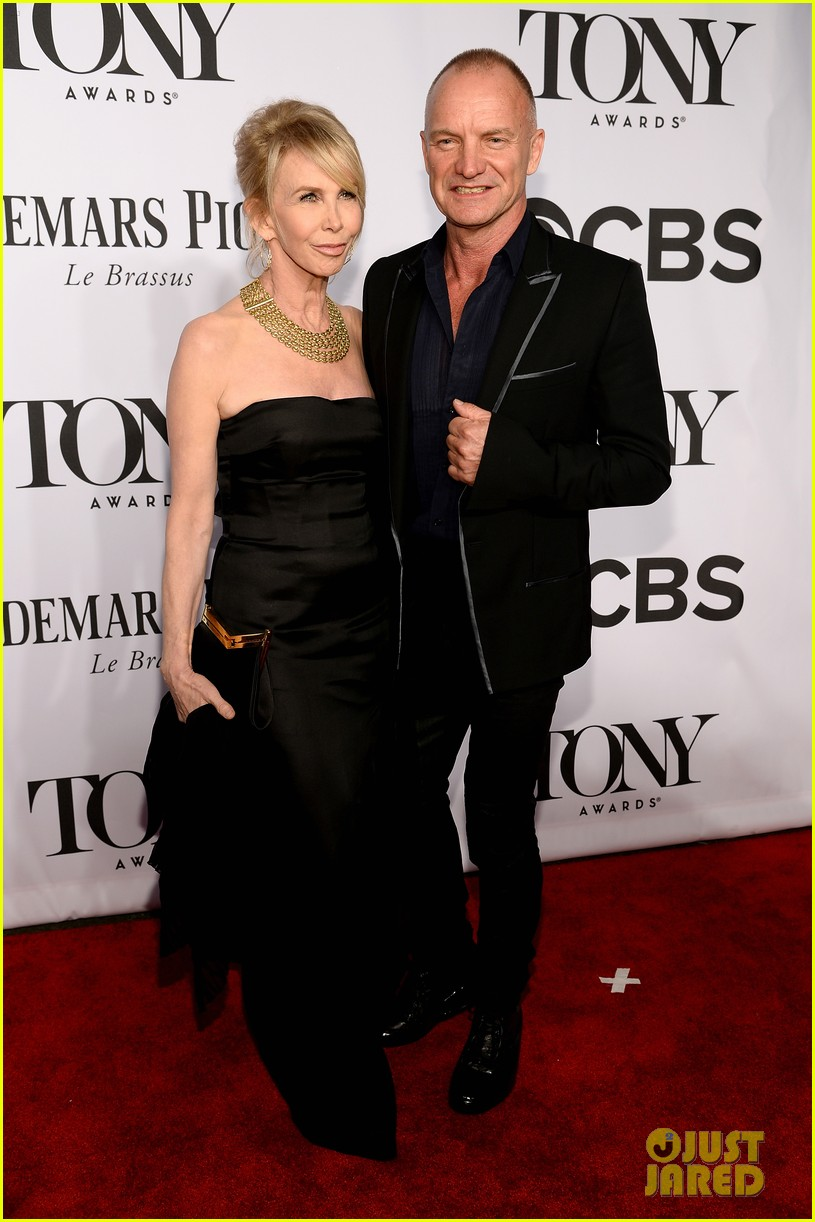sting brings wife trudie styler to tony awards 2014 033131252