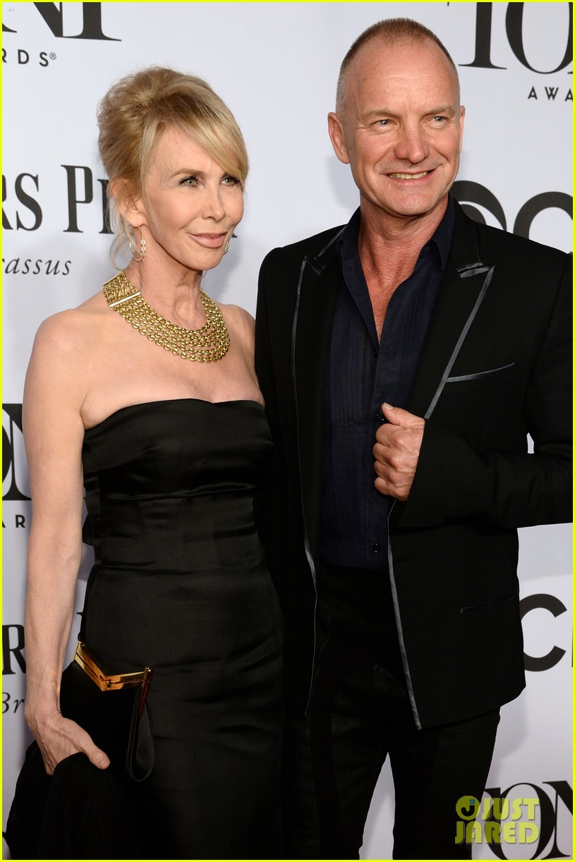 sting brings wife trudie styler to tony awards 2014 063131255