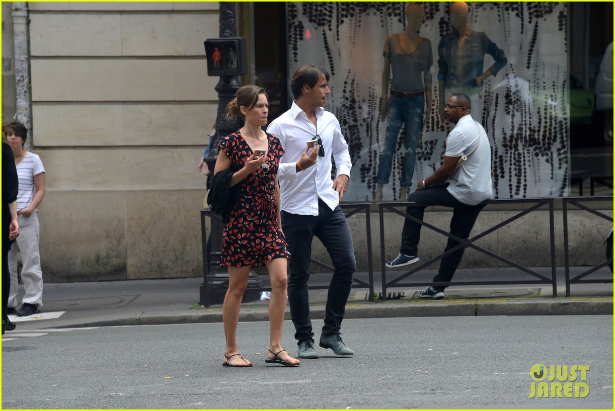 hilary swank boyfriend laurent fleury cool down glace 143134436