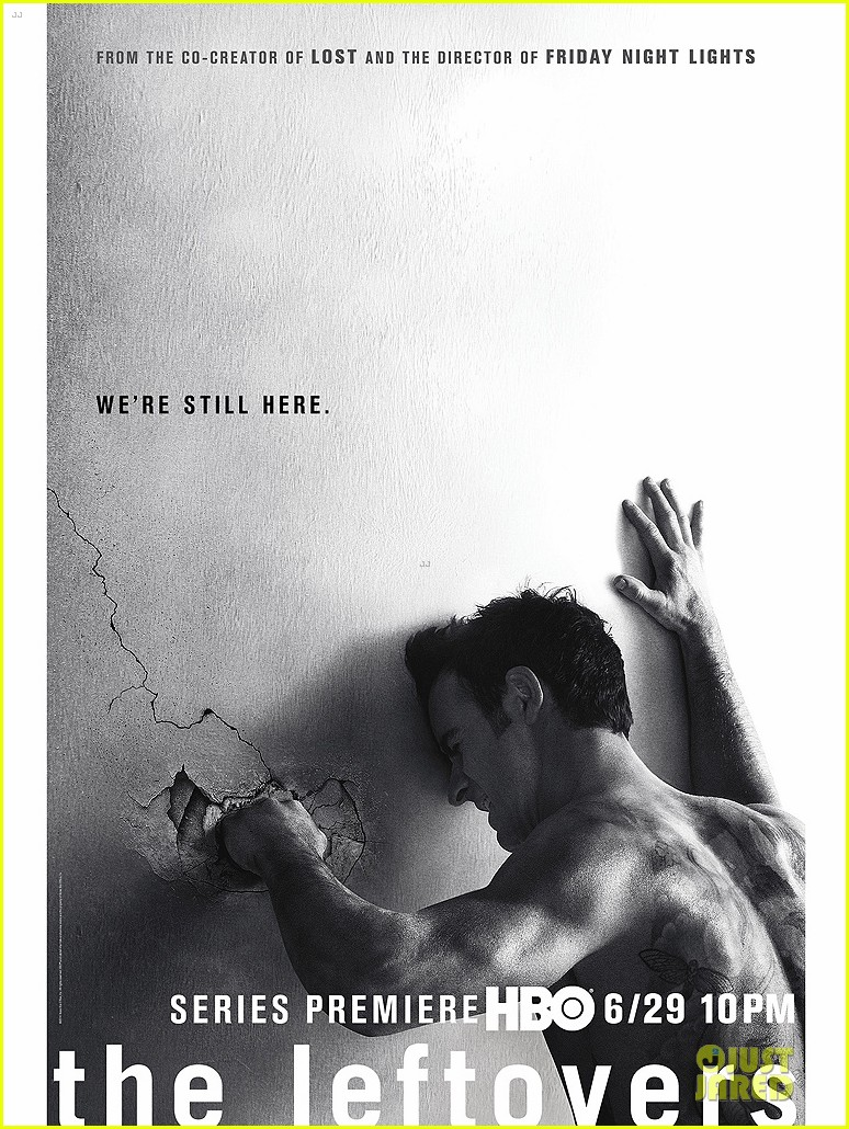 justin theroux punches wall for leftovers poster 053130116