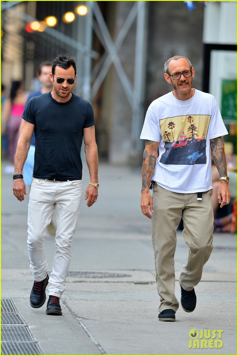 justin theroux hangs out with terry richardson 033145653