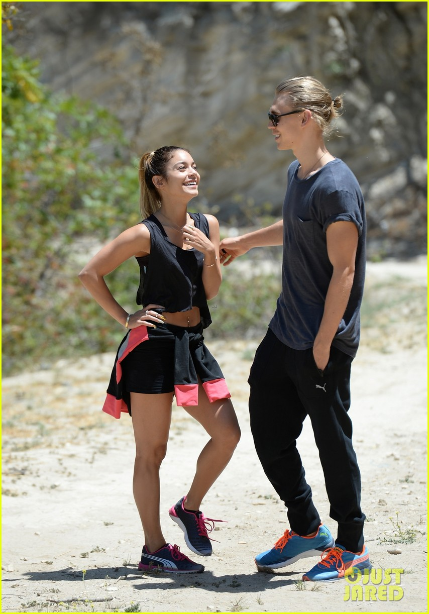 vanessa hudgens austin butler laughs hike together 043139089