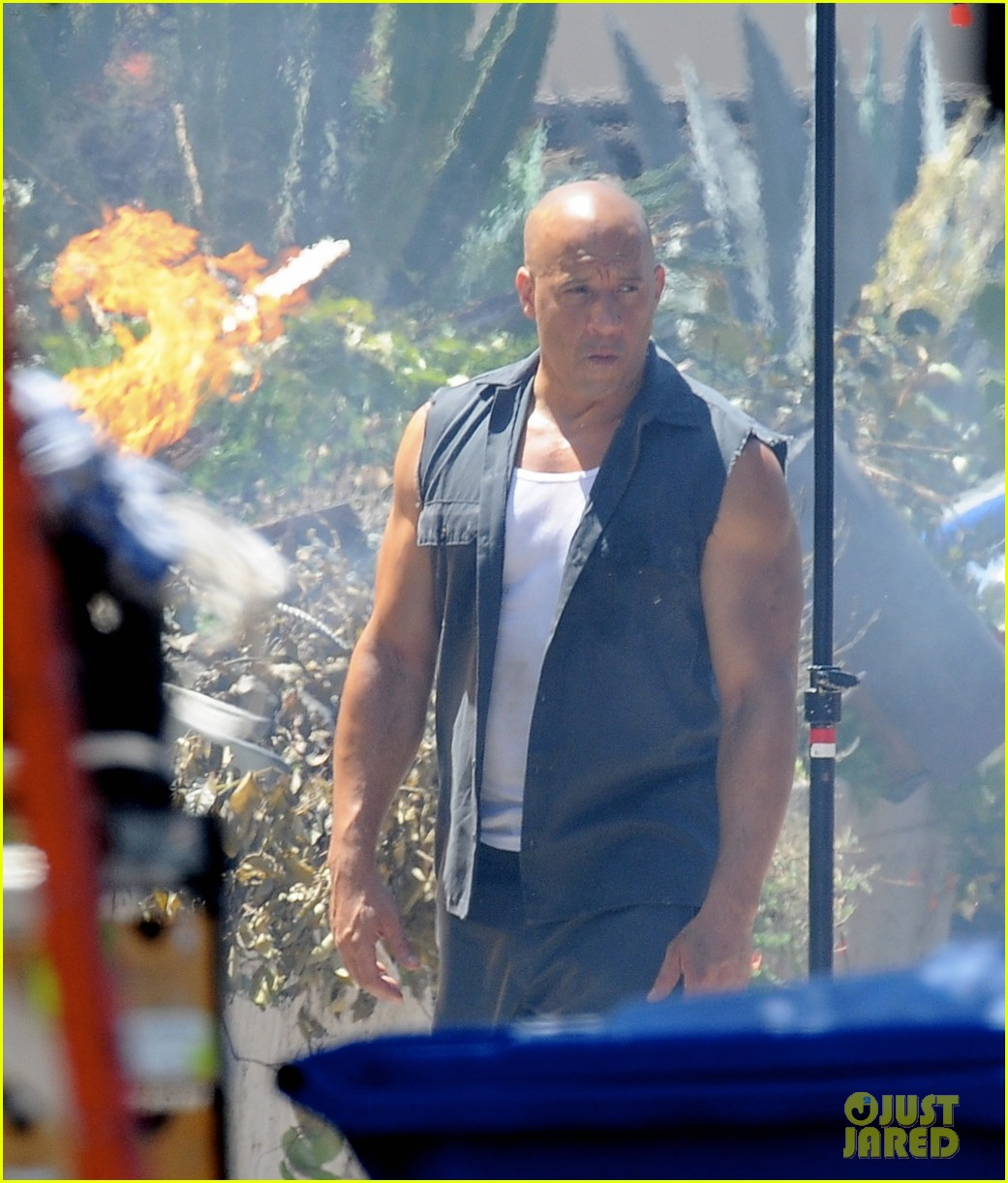 vin diesel does some fiery stunt work for fast furious 7 073128910